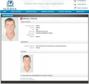 Vitalie Proca a fost dat în urmărire prin Interpol