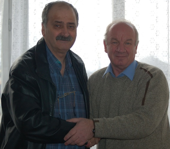 Deputy Abdrakhmanov  together with Iacob Chișărău, at Moldova Nouă. Chișărău is the only one sentenced to three years of prison for corruption.
