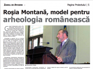 Alexandru Vulpe in ziarul finantat de RMGC