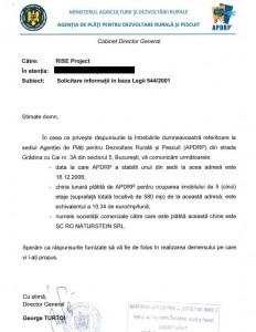 Directorul APDRP a comunicat RISE costul lunar al chiriei