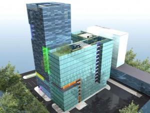 Proiectul Ro Naturstein pentru Bulevardul Expoziției nr. 1, așa cum era desenat în anul 2007 Sursa: urbanoffice.ro