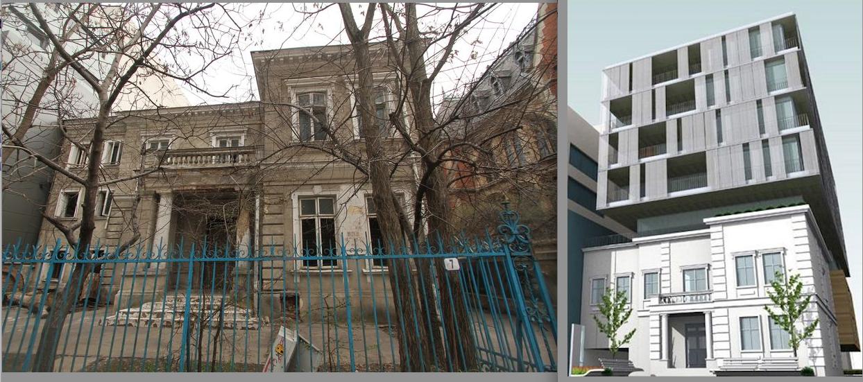 Casa memorială a lui Spiru Haret. În forma originală și, în a doua imagine, așa cum a fost văzută prin ochii lui Lilian Captari. Sursa: urbanoffice.ro