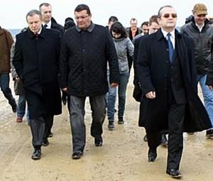 Dan Besciu, între Radu Berceanu și Emil Boc   foto: evz.ro
