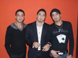 Frații Piarole, de la stânga la dreapta: Narcis, Laurențiu și Bahoi