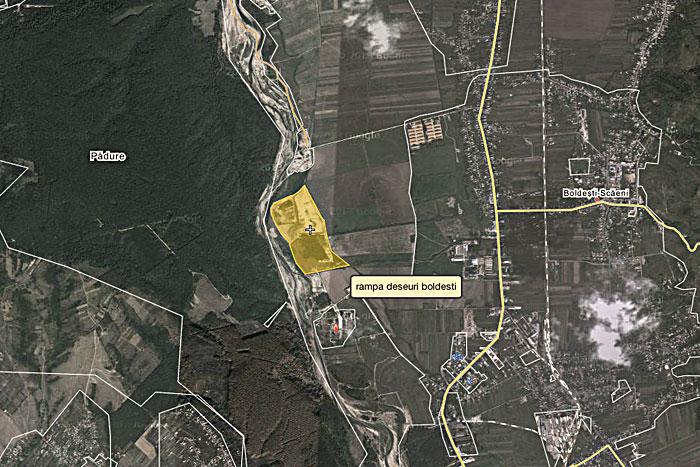 LOCAȚIA RAMPEI ECOLOGICE DE LA BOLDEȘTI-SCĂENI / sursa: Google Maps