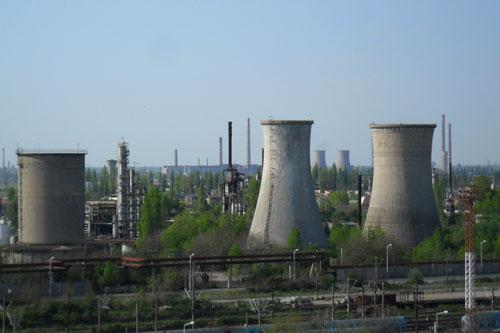 Platforma industrială a rafinăriri Astra Română sursa: Google Maps