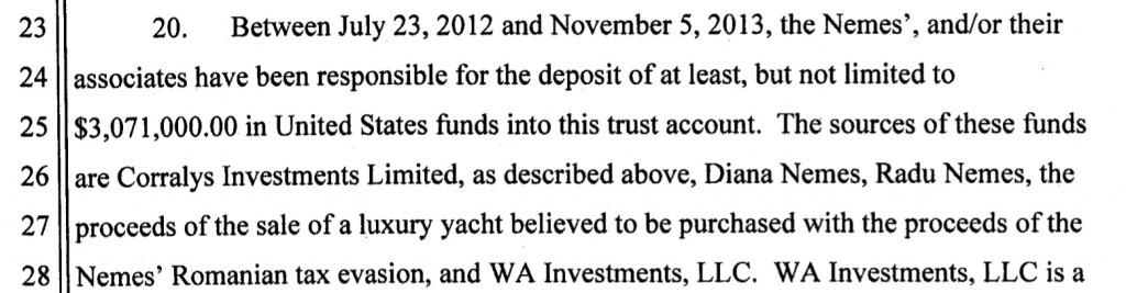 O parte din banii furați s-ar fi dus pe ambarcațiuni de lux