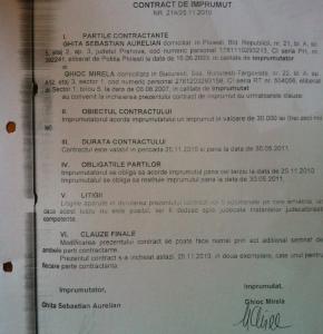 Contractul de împrumut