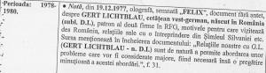 Dan Voiculescu l-a recomandat Securității pe Gert Lichtblau încă din 1977/Sursa: Consiliul Național pentru Studierea Arhivelor Securității