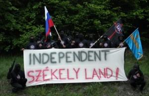 Membri HVIM solicitând independența Ținutului Secuiesc în manieră proprie/ deres.tv
