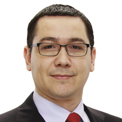 The 45-year old son of father ,Ninel Ponta and mother  Cornelia Naum, 168 cm tall Victor Ponta in 2017 photo