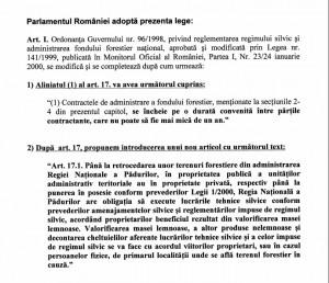 Articolele de lege propuse de Raduly.