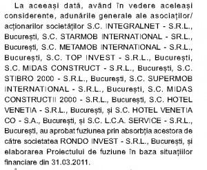 Firme imobiliare înghițite de Rondo Invest.