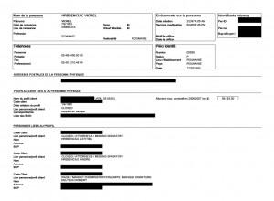 Detaliile contului fostulului deputat. Extrasul a fost editat de RISE. Sursa: ICIJ