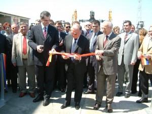 Ion Iliescu, la inaugurarea fabricii Schweighofer din Sebeș   MediafaxFoto: Ioana Câmpeanu