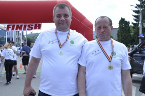 Viceprimarul Adrian Filip și edilul Vasile Coman, un parteneriat complex  Foto: Mircea Șerban