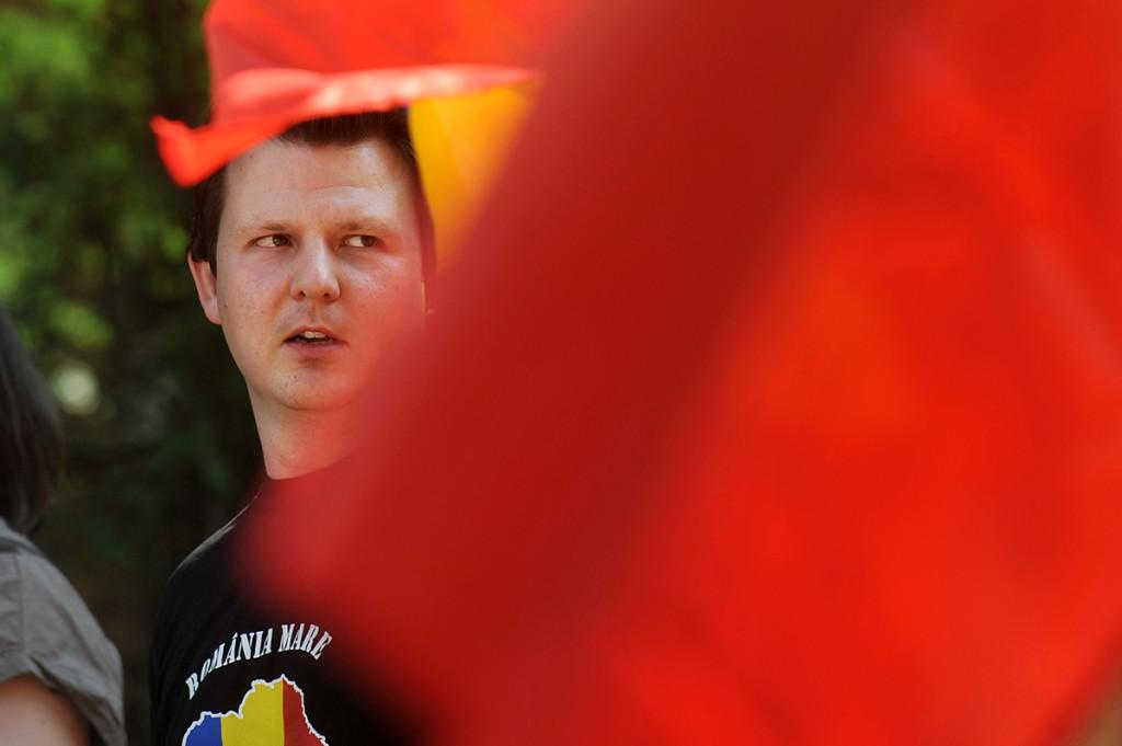 Tudor Ionescu, lideru mișcării. Foto: Andreea Alexandru/Mediafaxfoto.