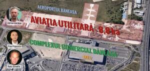 Terenul Aviației Utilitare va îngădui grupării Popoviciu-Dimofte să își extindă posesiunile imobiliare în principalul pol comercial al Bucureștiului. FOTO: Octav Ganea/Mediafax, Silviu Matei/Mediafax. INFOGRAFIE: Sergiu Brega.