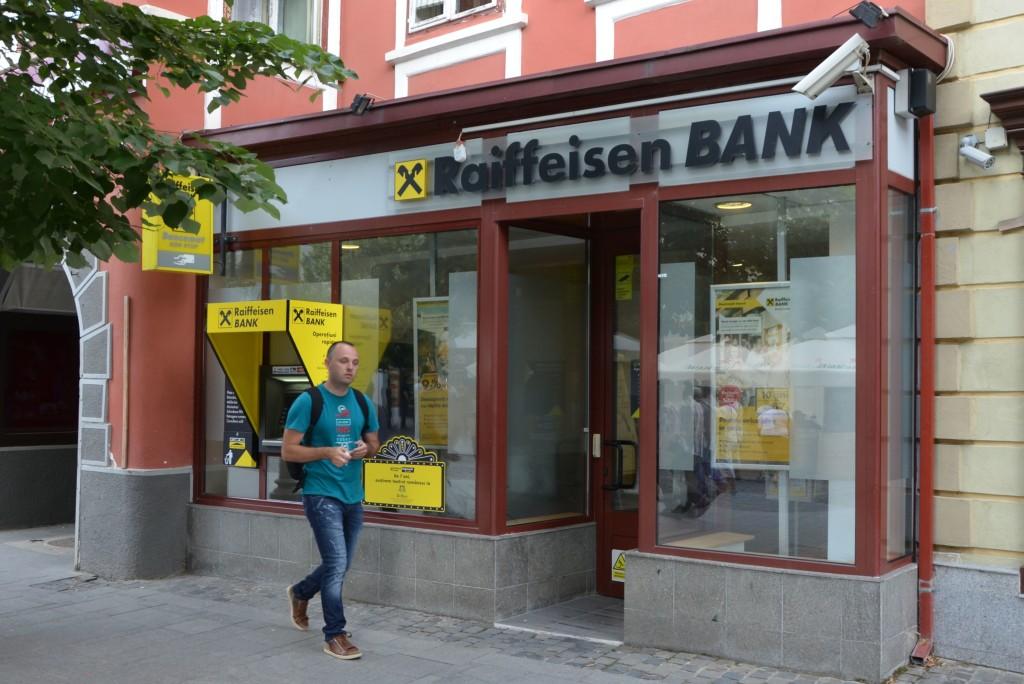 Acesta este spațiul pe care Klaus Iohannis l-a închiriat băncii Raiffeisen, începând cu 2001. Spațul este deținut de familia Iohannis, în cote egale, cu o familie pe nume Baștea. FOTO: RISE Project.