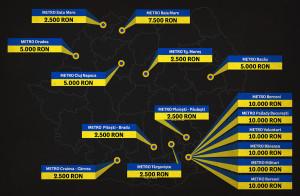Harta amenzilor aplicate rețelei Metro. Sursa: BML