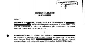 Alin Cocoș a fost cel care a semnat contractul de închiriere cu fratele lui Mugur Mihăescu.