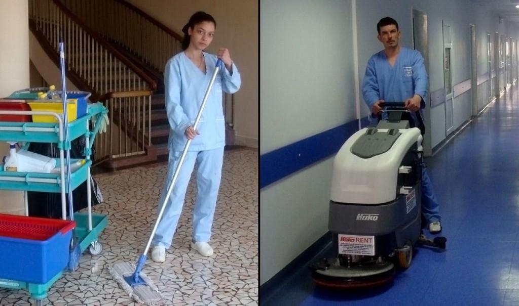 Pentru serviciile de curățenie prestate de personalul firmei Universal Med Cleaning, spitalele bucureștene plătesc sute de mii și milioane de euro într-un an. Banii nu sunt însă îndeajuns pentru crearea unor medii aseptice - după cum o dovedesc decesele răniților de la Colectiv. FOTO: Pagina web a Universal Med Cleaning.