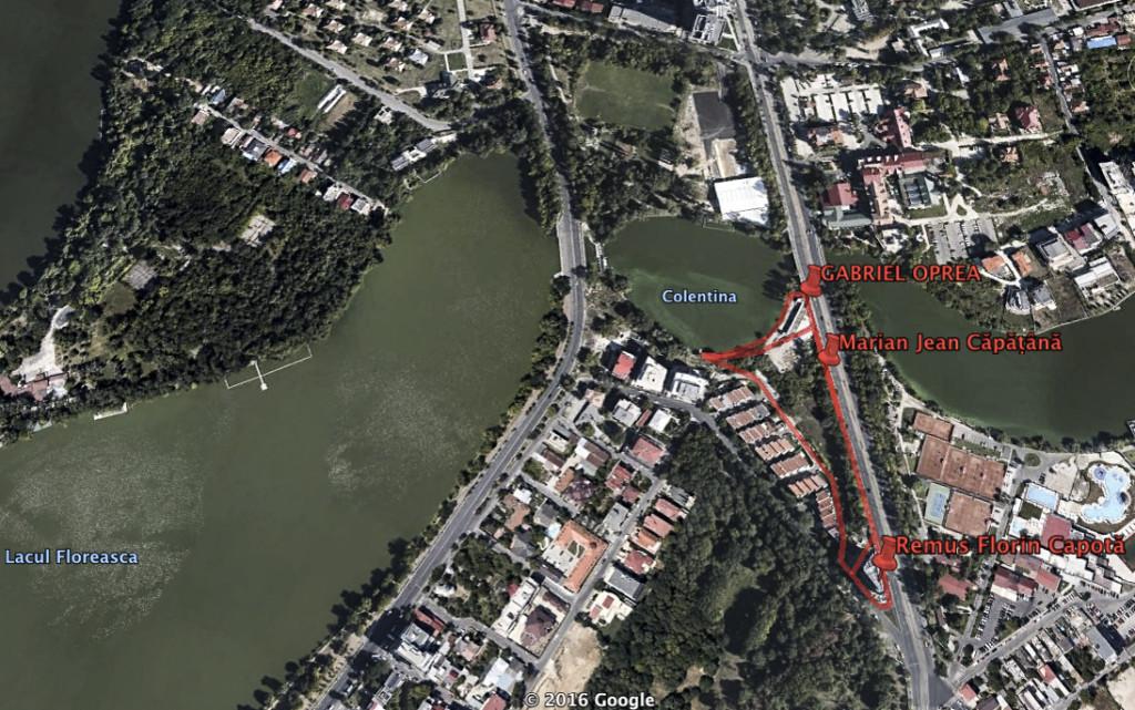 Lotizarea terenului de peste un hectar deținut inițial de Ioan Tudor Ionescu / Imagine Google Earth