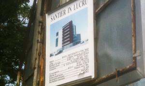 Panou informativ - construcție hotel, deținut de Ana-Maria Tudor / Arhivă Google Earth