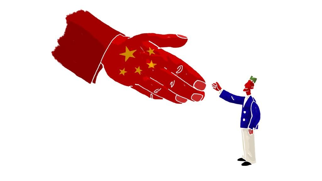 Înțelegerea sârbo-chineză. Ilustrație Dorde Matic