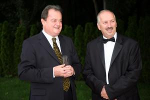 Vasile Blaga și Ion Eftime, la nunta din 2008 a lui Eftime Jr.
