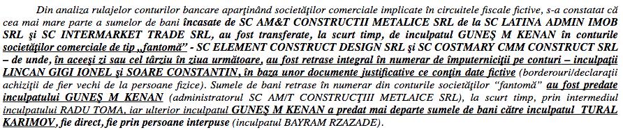Extras din referatul procurorilor de la Parchetul de pe lângă Tribunalul București.