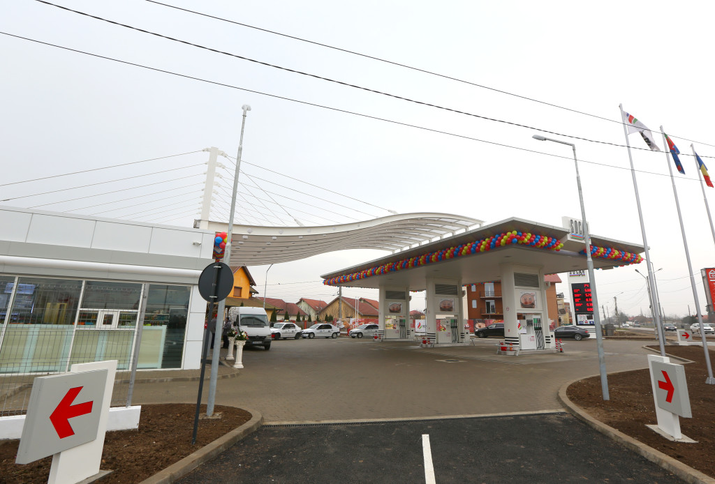 Una dintre benzinăriile inaugurat de Socar în 2014. Foto: Alexandru Hreniuc/Mediafax Foto
