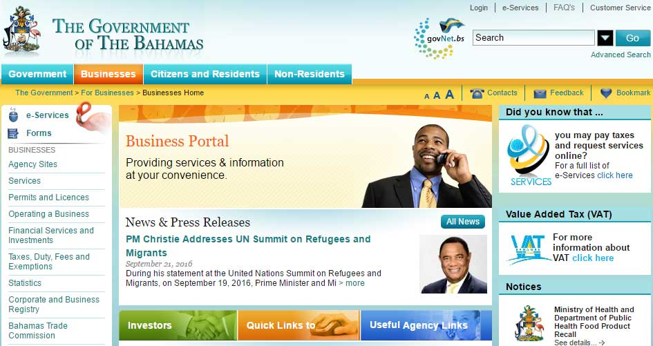 bahamas_gov_website