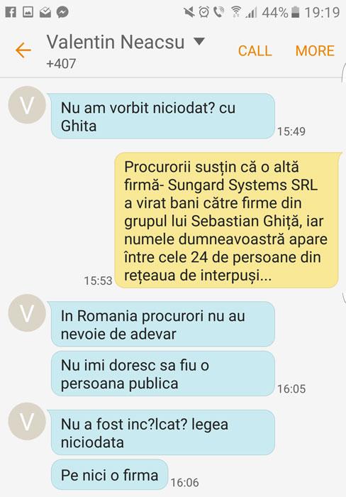 Răspunsurile lui Valentin Neacșu