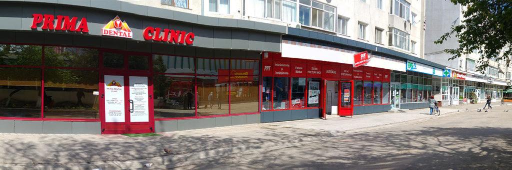 Spații comerciale deținute de firma Interfrigo Logistics SRL în centrul orașului Turnu Măgurele.
