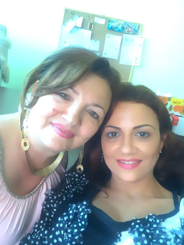 Andreea Georgiana Șerban (dreapta) și Sorina-Gina Hortolomei-Moscu Sursă foto: Facebook