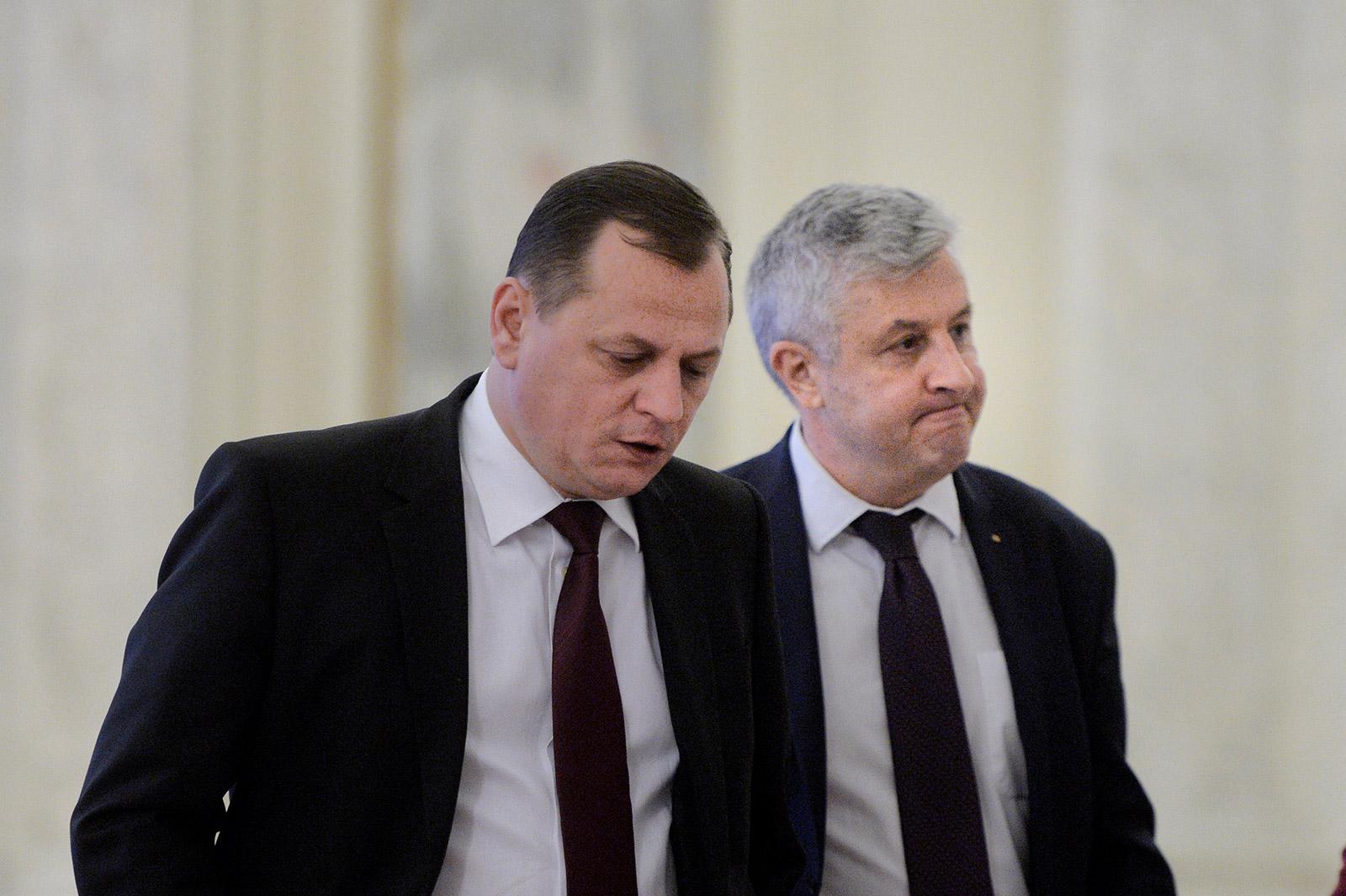 Gabriel Vlase (stânga) și Florin Iordache, împreună nu doar la vânătoare, ci și în Parlament / Foto: Mediafax Foto, Andreea Alexandru