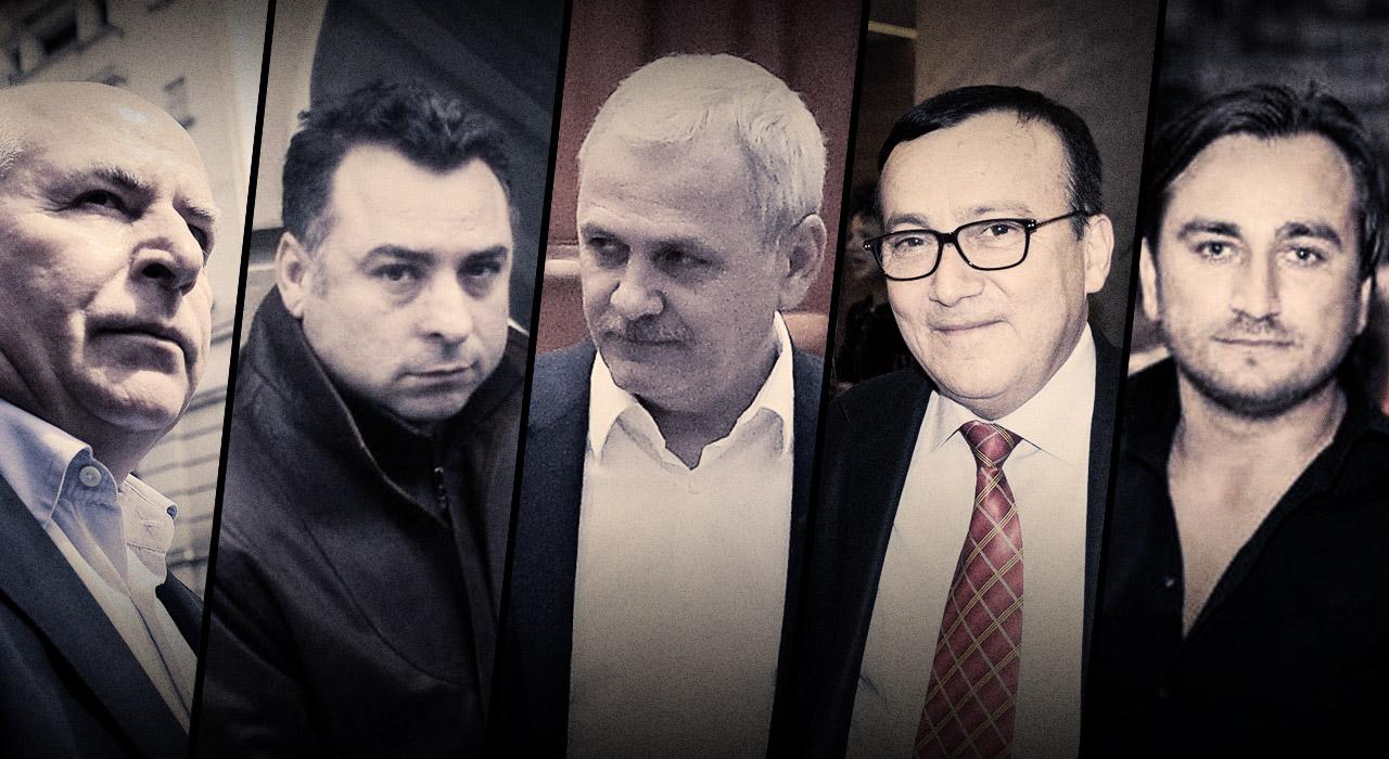 Theodor Berna, Nicolae Matei, Liviu Dragnea, Dumitru Marin și Marcel Păvăleanu