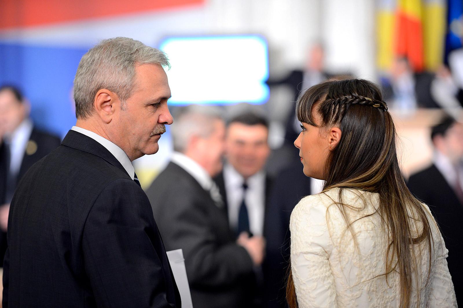 Liviu Dragnea și Cătălina Ștefănescu. Foto: Mediafax Foto, Răzvan Chiriță