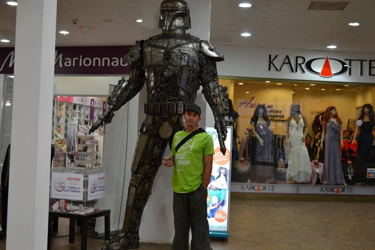 Florian Grigorie, omul care a ajutat mașinăria locală. Foto: Facebook