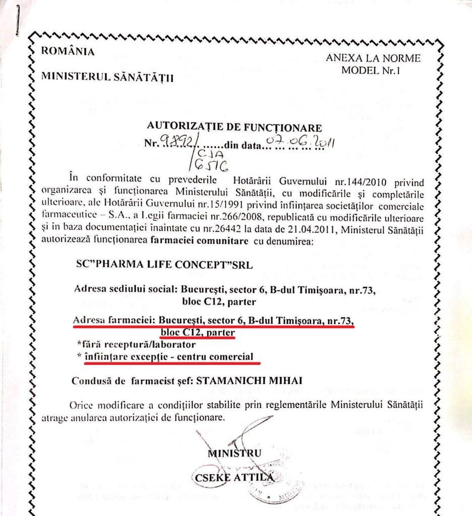 Hârtia aceasta, semnată de ministrul Cseke Attila, a fost vândută cu 80.000 de euro. De fapt, nu chiar aceasta, ci cea pe care Lihu a obținut-o de la Ministerul Sănătății după ce a declarat că ar fi pierdut-o pe cea din imagine.