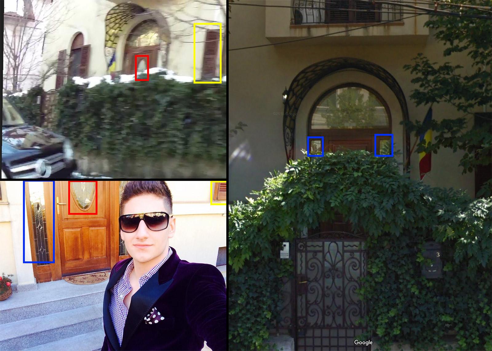 Fiul lui Gabriel Oprea s-a fotografiat în fața casei de pe strada Dr. Koch, iar imaginile de pe Google Earth confirmă că este aceeași vilă.