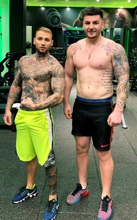 Adrian Mihai Mincă și Ionuț-Claudiu Popescu în sala de box.Sursă foto: Facebook