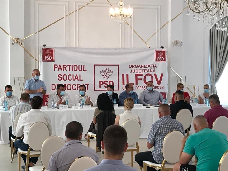 Noul Birou Permanent al Organizației PSD Popești-Leordeni și candidatul Gabriel Militaru