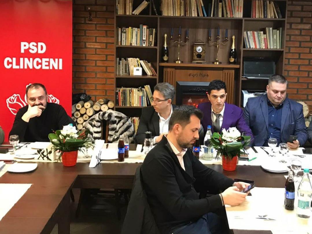 Florian Puiu, alături de Gheorghe Bolintineanu, la sediul PSD Clinceni
