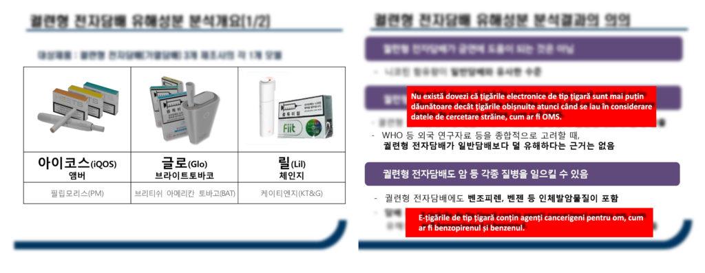 Rezultate studiu produse tutun încălzit, Seul, Coreea de Sud