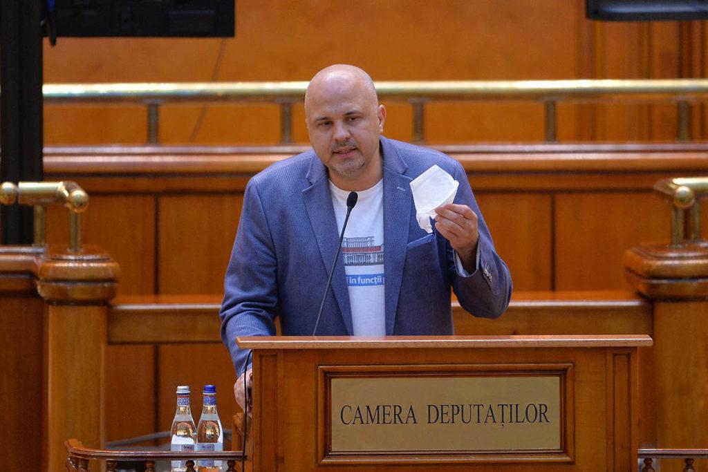Deputatul USR Emanuel Dumitru Ungureanu. Foto: MediafaxFoto / Alexandru Dobre